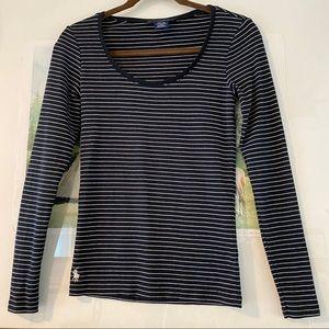 Ralph Lauren Stripe Tee Shirt Pima Cotton Tencel